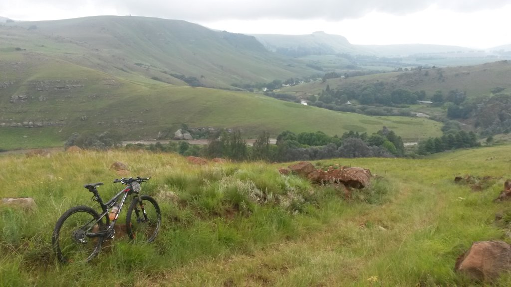 2015 Euro Steel DRak Descent. Start of steep jeep track descent into Glenhaven – Day 2