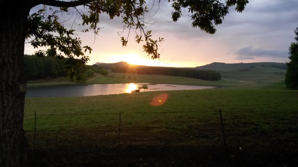 In the Area – Typical sunset in Underberg