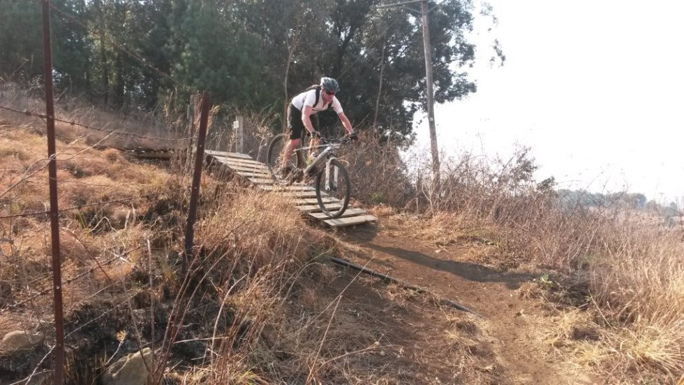 Trails – Steep bridge at end of Khotso Clamber – back to tar road at Mt Grace