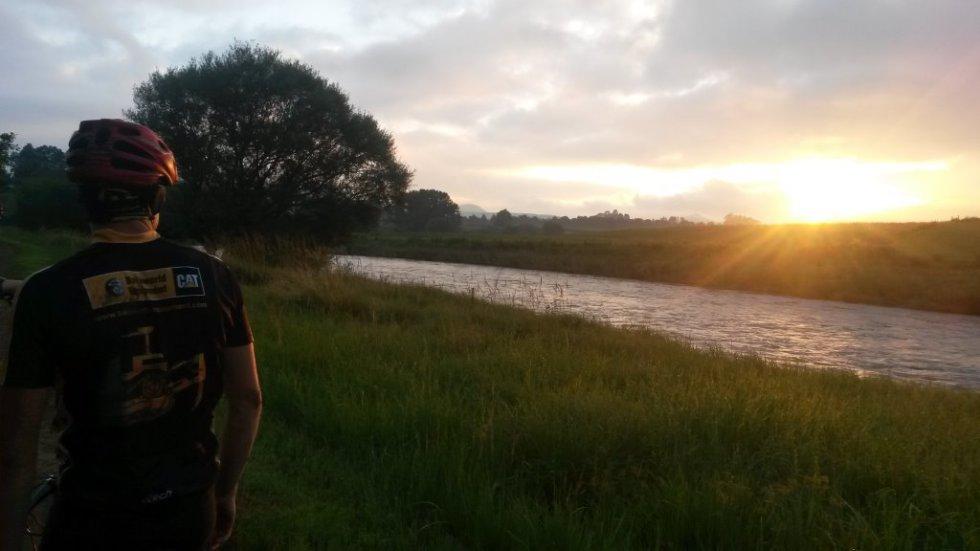Trails- Mzimkulu Run. Sunset ride along the river.